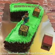 mindcraft cakes number 7 minecraft cake with chocolate dirt s creative cakes