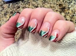 no nails christmas french tip