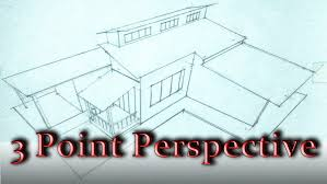 Modern House Drawing by How To Draw A 3 Point Perspective A House Youtube