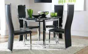 Black Glass Dining Table And 4 Chairs Glass Dining Room Sets For 4 Jcemeralds Co