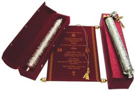 indian wedding invitations scrolls royal scroll for wedding invitation maroon velvet used