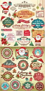 retro merry christmas labels vector vector graphics blog