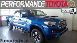 toyota v6 new 2017 toyota tacoma trd sport v6 truck double cab blazing blue