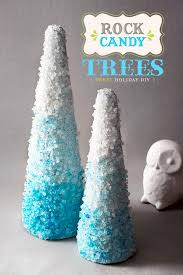 holiday diy rock candy cone trees hostess with the mostess