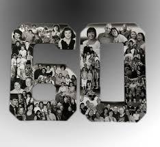 60th birthday decorations birthday photo collage custom milestone bithday collage numbers
