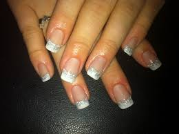 silver acrylic nail designs how you can do it at home pictures
