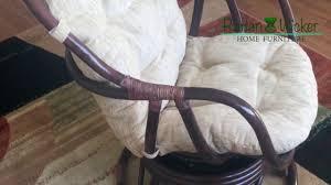 Rattan Swivel Rocker Cushions Rattan Wicker Swivel Rocking Chair Erick Dark Brown Color With