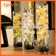 Long Vase Centerpieces by Portable Cheap Wholesale Tall Cylinder Long Glass Flower Vase For