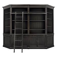 athens modular library with angled end bookcases arhaus furniture