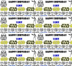 wars wrapping paper personalised birthday gift wrapping paper wars any name ebay