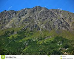 Rugged Mountain Range Steep Rugged Mountain On The Kenai Peninsula Stock Photo Image