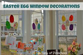 Decoration For Window Messy Play Shaving Cream Easter Eggs Craft In Lieu Of Preschool