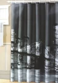 Manhattan Curtains Manhattan Bridge Photographic Black White Fabric