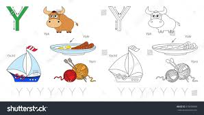 tracing worksheet children full english alphabet stock vector
