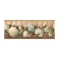 york wallcoverings best of country hydrangea wallpaper border