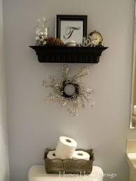 decorating half bathroom ideas diy faux floating shelves shelves house and bath