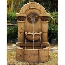 jeco marble pillar garden wall indoor outdoor fountain from