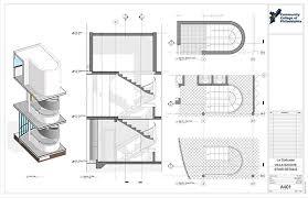 Villa Savoye Floor Plan Villa Savoye Revit Construction Documentation On Behance