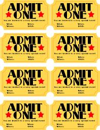 movie ticket invites free printable invitation design