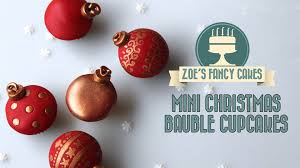mini cupcake bauble decorations how to cake tutorial