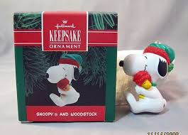 snoopy and woodstock hallmark keepsake ornament 1990 from antique
