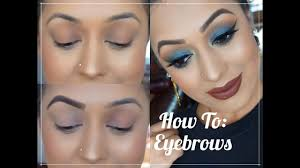How To Color In Eyebrows How To Fill In Eyebrows Brow Routine Youtube