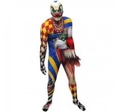 Scary Clown Halloween Costumes Men Scary Clown Halloween Morphsuit Scary Clowns Scary