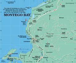 montego bay map map of montego bay jamaica from caribbean on line