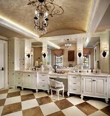 traditional bathroom design interior with chessboard flooring