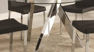 table beautiful modern chrome dining table base charismatic