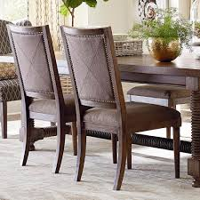 knotty oak upholstered side chair
