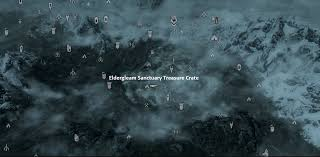 Treasure Map 3 Skyrim Image Eldergleamsanctuarytreasurecratemap Png Elder Scrolls