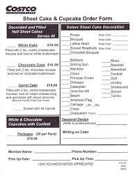 wedding cake order form costco bakery wedding cakes atdisability