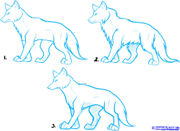 how to draw anime wolves anime wolves step by step anime