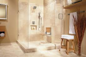 wall mounted teak wood shower bench installed in the bathroom