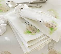 pottery barn table linens hilltop bunny table linens pottery barn easter spring