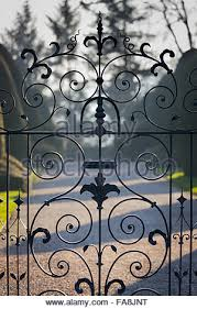 the gates of chirk castle stock photo royalty free image