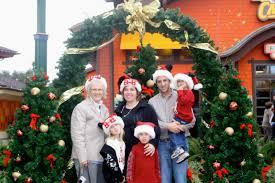 christmas trees around the