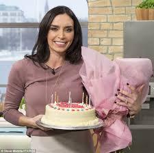 christine bleakley gets birthday cake and flowers on itv u0027s this