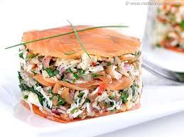 cuisiner saumon fumé mille feuille de crabe au saumon fumé notre recette illustrée