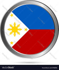 Phippines Flag Philippines Flag Button Royalty Free Vector Image