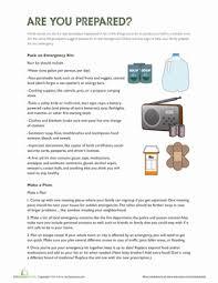 Emergency Preparedness Worksheet Disaster Preparedness Worksheet Education Com