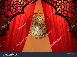 restaurant wall decoration authentic oriental plates stock photo