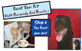 paint your pet event burgundy and brushes