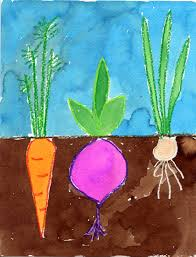 vegetable garden art projects for kids