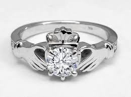 claddagh engagement ring diamond claddagh engagement ring in 14k white gold jewelry