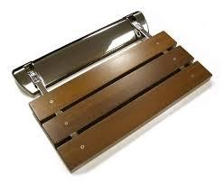 Teak Bathroom Accessories Folding Teak Shower Bench Treenovation