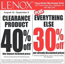 clearance product lenox warehouse store hagerstown md