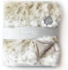 Leopard Print Faux Fur Throw Amazon Com Mink Faux Fur Throw By Nicole Miller Luxury Plush