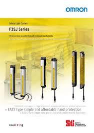 f3sj series safety light curtain omron pdf catalogue
